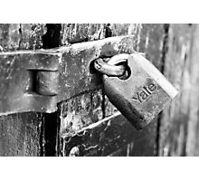 That Trusty Old Lock Photographic Print