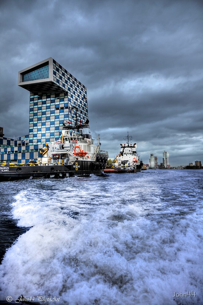 Rotterdam Harbor in and out by John44