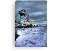 Rotterdam Harbor in and out Canvas Print