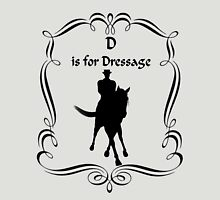 D Is For Dressage Horse Silhouette  Womens Fitted T-Shirt
