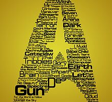 Star Trek The Original Series typography (yellow) by renduh