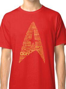 Star Trek The Original Series typography (red) Classic T-Shirt