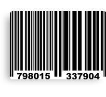 Barcode Canvas Print