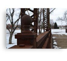 Sioux Falls Bridge Posts Canvas Print