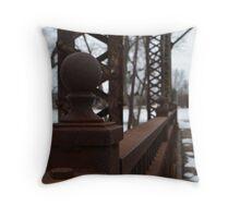 Sioux Falls Bridge Posts Throw Pillow