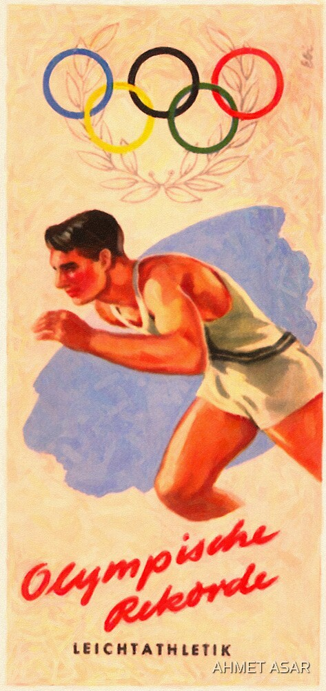 Posters  1952 Helsinki Finland Olympic Games Pamphlet  Enhanced re production by Adam Asar
