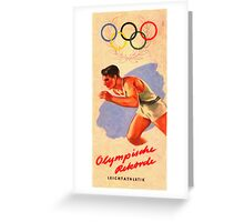 Posters  1952 Helsinki Finland Olympic Games Pamphlet  Enhanced re production Greeting Card