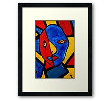 Two Face Framed Print