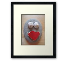 Red Mouth Framed Print