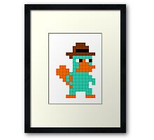 Pixel Perry the Platypus Framed Print