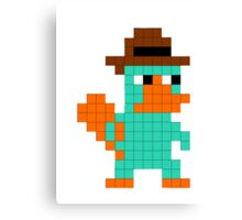 Pixel Perry the Platypus Canvas Print