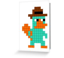 Pixel Perry the Platypus Greeting Card