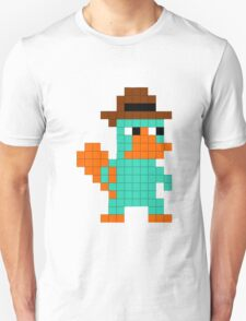 Pixel Perry the Platypus Unisex T-Shirt