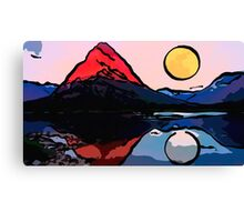red mountain stylish Canvas Print