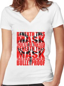 Ideas are bulletproof v.1 Women's Fitted V-Neck T-Shirt