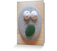 Green Mouth Greeting Card