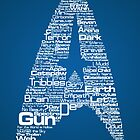Star Trek The Original Series typography (blue) by renduh