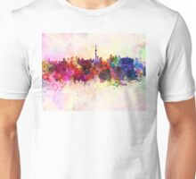 Toronto skyline in watercolor background Unisex T-Shirt