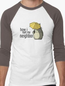 How I Met My Neighbor Men's Baseball ¾ T-Shirt
