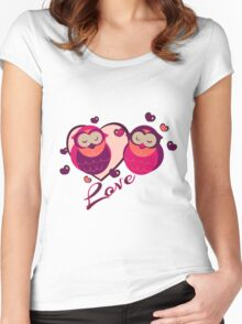 Lovely Owls Women's Fitted Scoop T-Shirt