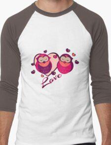 Lovely Owls Men's Baseball ¾ T-Shirt