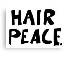 Hair Peace Canvas Print