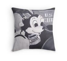 Gas Mask Mickey Throw Pillow