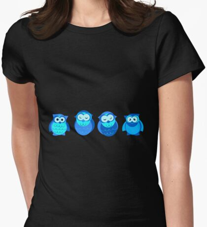 Four Blue Owls T-Shirt