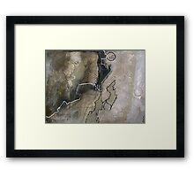 Map Of Mars Framed Print