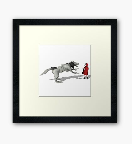 The Wolf and Little Red Framed Print