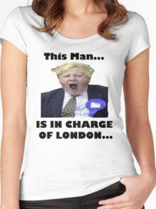 BORIS JOHNSON YAWN Women's Fitted Scoop T-Shirt