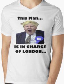 BORIS JOHNSON YAWN Mens V-Neck T-Shirt