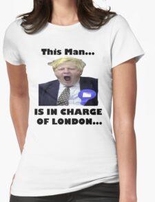 BORIS JOHNSON YAWN Womens Fitted T-Shirt