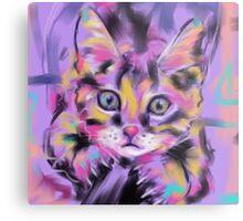 Cat Wild Thing Metal Print