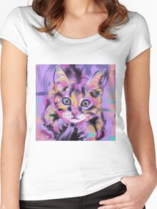 Cat Wild Thing Women's Fitted Scoop T-Shirt