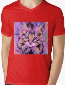 Cat Wild Thing Mens V-Neck T-Shirt