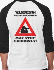 Warning! Photographer Men's Baseball ¾ T-Shirt