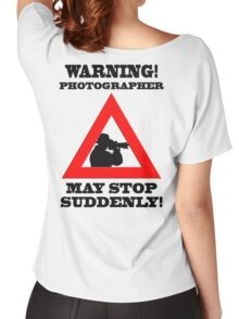 Warning! Photographer Women's Relaxed Fit T-Shirt