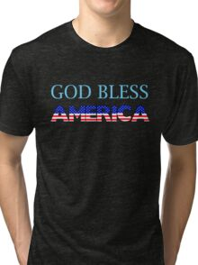 God Bless America Tri-blend T-Shirt