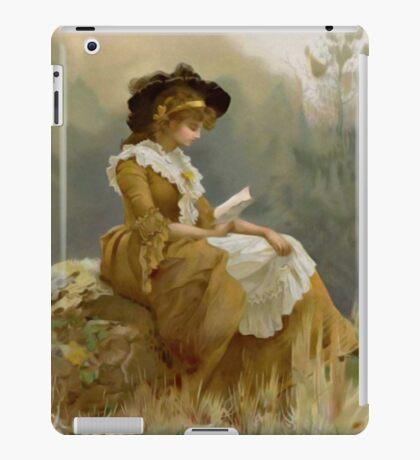 Vintage Blond Lady Reading iPad Case iPad Case/Skin