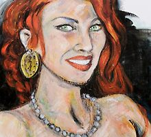 Beautiful Redhead by Reynaldo