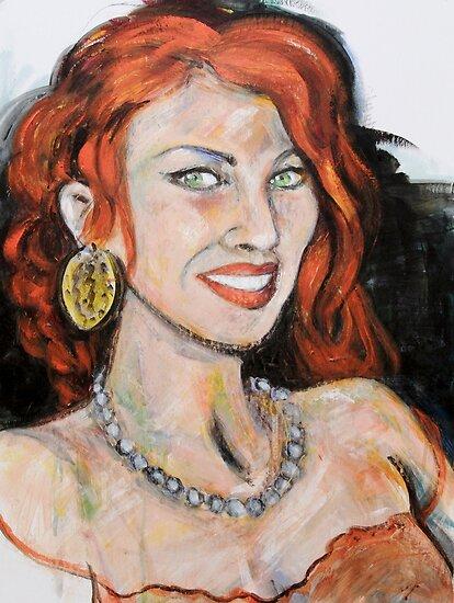 Beautiful Redhead by Reynaldo