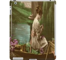 Vintage Lady in a Boat - iPad Case iPad Case/Skin