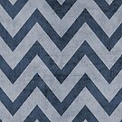 navy and silver chevron by beverlylefevre