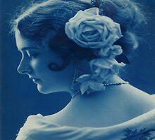Vintage Beautiful Lady - iPad Case by AdrianeJ