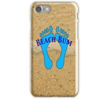 Beach Bum on Beach iPhone Case/Skin