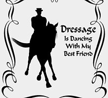 Dressage Is Dancing Horse Silhouette  by SmilinEyes