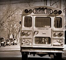 The School Bus-Sepia by henuly1