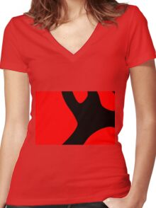 colors and abstract shapes Women's Fitted V-Neck T-Shirt