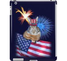 Patriotic Bunny Rabbit iPad Case/Skin